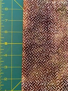 """Batik Cotton Fabric 1.86 yard (67"""" x 44"""" W) Shades of Brown and Beige"""