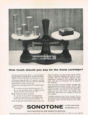 1956 Sonotone Super Fidelity 3P Hi-Fi Cartridge Record Player Vtg Print Ad
