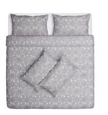 IKEA SKÖRPIL Skorpil White/Grey Duvet Cover & 4 Pillowcases Bedding Set 200x200