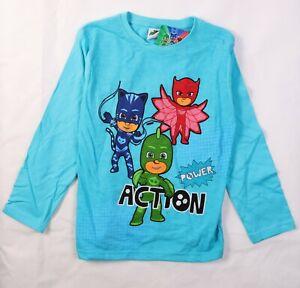 PJ MASKS Original Boys Pyjama  Long Sleeve Cotton Tops, T-Shirts, 8years