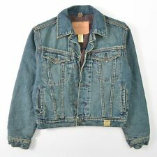 Abercrombie Fitch Denim Trucker Jacket Wool Lined Boys Large L