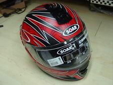 Integralhelm Helm SOAR Concord 3 evo; Gr. L schwarz/weiß/rot matt NEU Lagerware