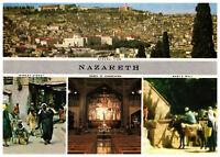 Nazareth: Market Street, Marys Well, Israel, Palestine Rare Multiview Postcard