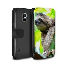 PU Leather Case/Wallet for Samsung Galaxy S5 Neo/G903/Wildlife Animals/Sloth