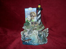 Musical Lighthouse with Photo Holder Plays Over the Waves Seaside Scene Nib