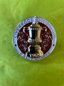 Liverpool FC Rare Porters Reds FA Cup Winners 1965 Enamel Pin, Not Kop Badges
