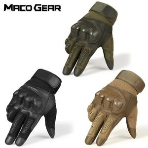 Touch Screen Hard Knuckle Tactical Full Finger Gloves Army Outdoor Sport Hunting