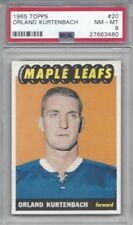 1965 Topps hockey card #20 Orland Kurtenbach Toronto Maple Leafs graded PSA 8