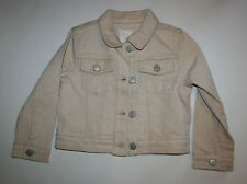 New Gymboree Shimmer Gold Brown Denim Jacket 4 year Right Meow