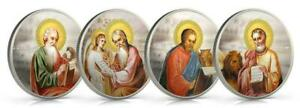 Niue 2011 $2 Orthodox Shrines The Evangelists 4x1 Oz Silver Proof Coin Set