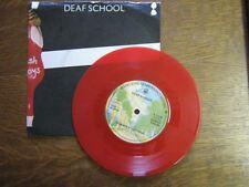 DEAF SCHOOL 45 TOURS UK THUNDER VINYL ROUGE