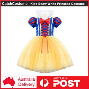 Kids Girls Snow White Princess Costume Fairytale Dress Up Xmas Halloween Cosplay