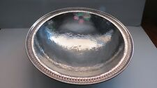 Sterling Silver Arts And Crafts Hand Wrought & Hammered Serving Bowl Mayo & Co.