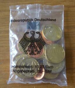 Euro Münzen Starterset Deutschland - 2002 F Stuttgart unzirkuliert