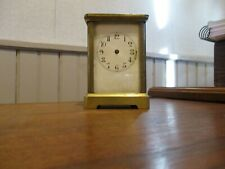 ANTIQUE FRENCH CARRIAGE CLOCK/NOT RUNNING/PARTS OR RESTORATION