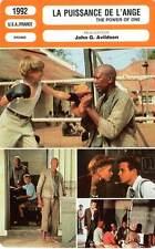 FICHE CINEMA : LA PUISSANCE DE L'ANGE - Dorff,Mueller-Stahl 1992 Power Of One