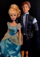 Pretty Disney Cinderella Princess Doll with 2004 Mattel Prince Ken in Suit