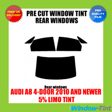 AUDI A8 4-DOOR 2010+ 5% LIMO REAR PRE CUT WINDOW TINT