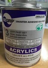SCIGRIP Weld On #3 Acrylic Cement Glue 473ml-Water thin- BONUS Applicator Sale!!