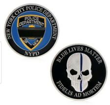 New York City Police Blue Lives Matter Challenge Coin - NYPD // FREE US SHIPPING