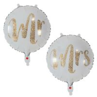 Mr & Mrs Wedding Balloons twin pack Mr & Mr Mrs & Mrs 18'' Party Helium Balloons