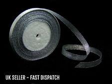 3 Rolls of  25 Yard 10mm Silver Organza Ribbon Craft Sewing Fashion Sparkle