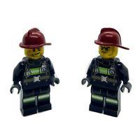 Parts /& Pieces – 383321 2 x Lego red safety hats Contractors helmet