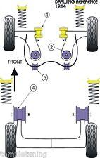 Powerflex Suspension Bush Kit [8 Bushes] For Ford Fiesta Mk4/mk5 Puma