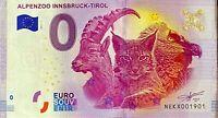 BILLET 0  EURO  ALPENZO INNSBRUCK TIROL  2017  NUMERO 1901