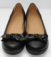 Hotter Originals JEWEL 100 Leather Shoes Black Extra Wide Fit UK 4.5 Sh05 04