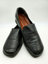 Naturalizer Black SlipOn Loafer Shoes-Womans 9.5W-Leather Upper-Soft Sole-Brazil