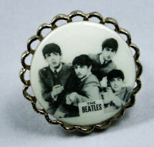 Beatles Jewelry Celluloid/Brass Ring-1964-ESTX