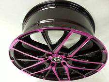 "17"" # 0029 White Diamond Edition wheels 4 RIMS Maroon & Pink 4X100  NEW PRODUCT"