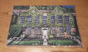 Whitley Hall, Ecclesfield - Canvas Print of Landscape Painting 30x20cm signed