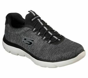 Skechers Sport Mens SUMMITS FORTON Sneakers Men Schwarz/Weiß