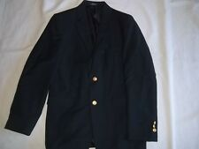 Boys CHAPS Navy 8% Wool BLAZER JACKET Size 16 R Regular Dressy Suit Coat