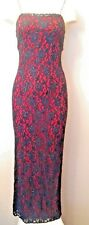 Reggio - Black and Red Sparkly Lace Dress