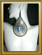 New Basketball Wives Inspired Threaded Peacock Dangle Earring Poparazzi