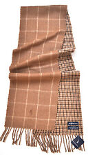 RALPH LAUREN POLO SCARF MEN'S WRAP LAMBS WOOL Made ITALY BUSINESS PLAID GIFT