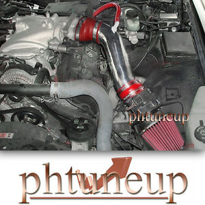 RED 2003-2004 MERCURY MARAUDER 4.6 4.6L V8 AIR INTAKE KIT SYSTEMS + FILTER