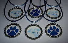 6 BLUES CLUES BOTTLE CAP NECKLACE BIRTHDAY PARTY FAVORS WITH COLOR  CORDS