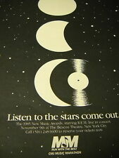 R.E.M. Rem starring at 1985 New Music Awards Promo Ad