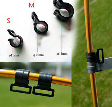 20PC Windproof Tent Awning Canopy Fixing Clamp Clips Pole Corner Buckle Camping