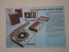 advertising Pubblicità 1970 PHILIPS RH 790/REGISTRATORE N 4407/GIRADISCHI GA 202