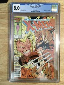 Uncanny X-Men #213 CGC 8.0 (VF) - Wolverine vs Sabertooth - Psylocke joins team