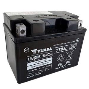 Batterie Aprilia Mojito 50 Custom TFA00 Bj.2007 YUASA YB4L-B AGM geschlossen
