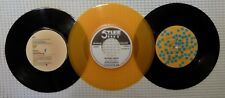 ELVIS COSTELLO Orig STIFF / RADAR UK Belgium 45s Orange Vinyl Missing Sleeves NM
