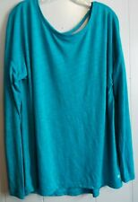 Xersion relaxed fit tunic top long sleeves sexy neckline Large L