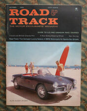ROAD & TRACK Magazine 1959 Alfa SuPer Spider SURFING cover vtg surf Auto Racing