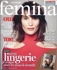 VERSION FEMINA N°762 7 NOVEMBRE 2016 ARTERTON/ SEXY LINGERIE/ CUISINE&DECO FORET